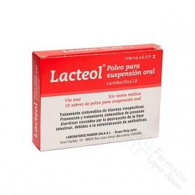 LACTEOL POLVO PARA SUSPENSION ORAL, 10 SOBRES
