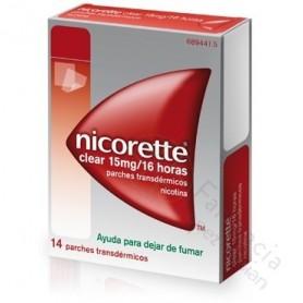 NICORETTE CLEAR 10 MG/16 HORAS PARCHES TRANSDERMICOS, 14 PARCHES